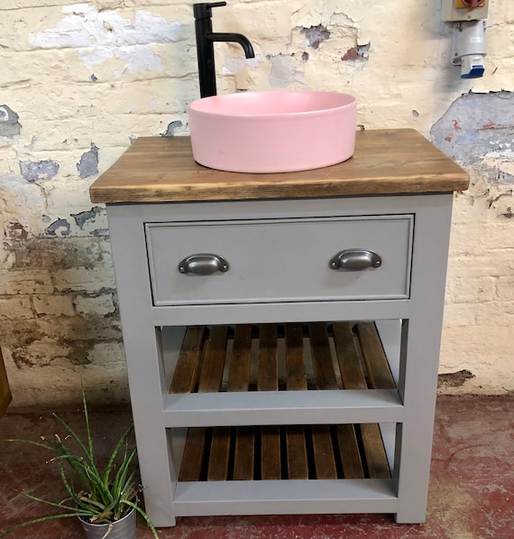 HOLCOMBE PAINTED  | Reclaimed Timber Bathroom Vanity Unit
