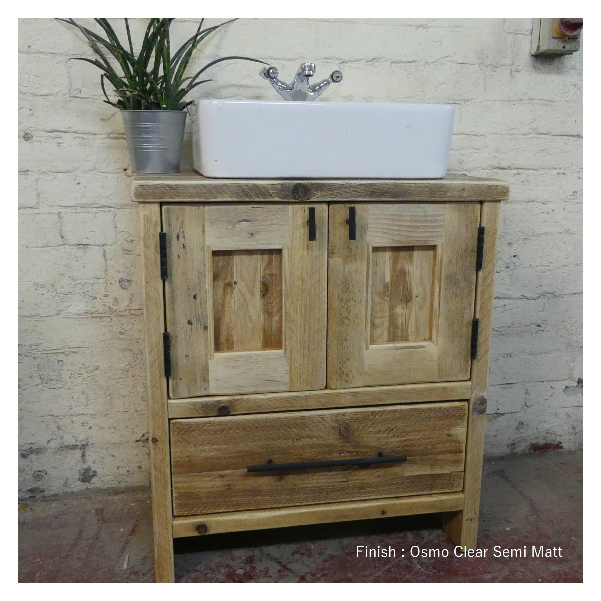 Hexham Reclaimed Bathroom Vanity Cabinet Wooden Vanity