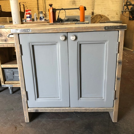 YORK PAINTED - Vanity Unit Bathroom, Wooden Vanity Bathroom Rustic, Farmhouse Bathroom Vanity Reclaimed Wood