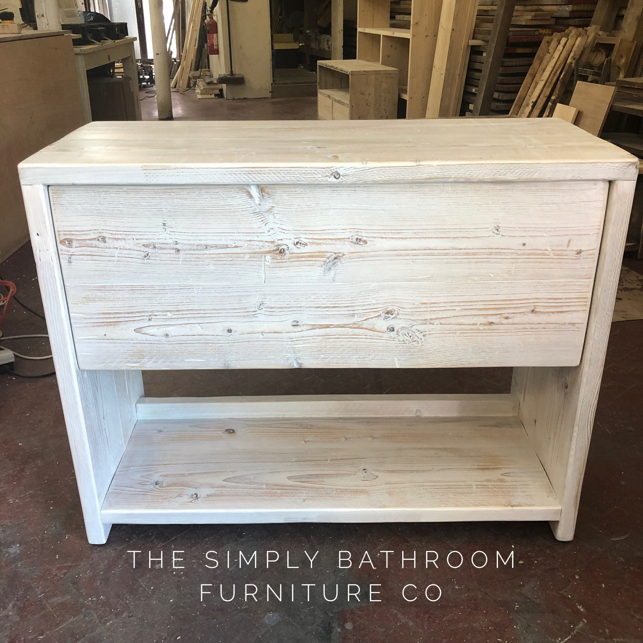 Glasgow Reclaimed Wooden Vanity Unit Wood Bathroom