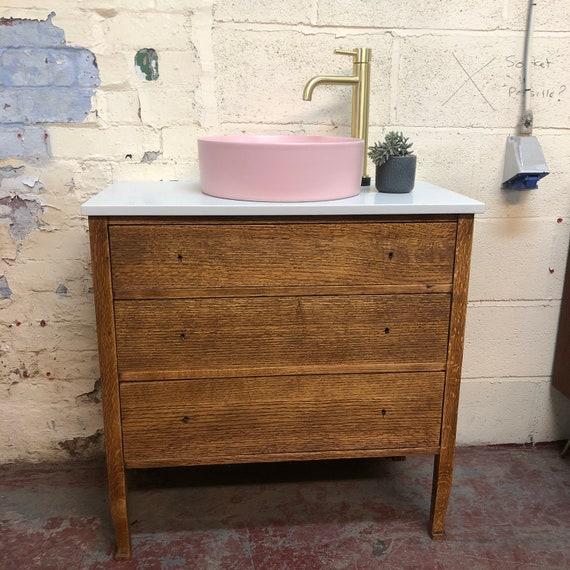 VINTAGE 56 | Oak Bathroom Vanity Incl. Quartz worktop