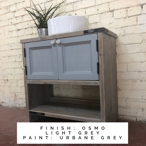 Harrogate Painted  | Bathroom Vanity Unit | Wooden Bathroom Vanity | Rustic Farmhouse  Vanity | Reclaimed Wood Vanity.