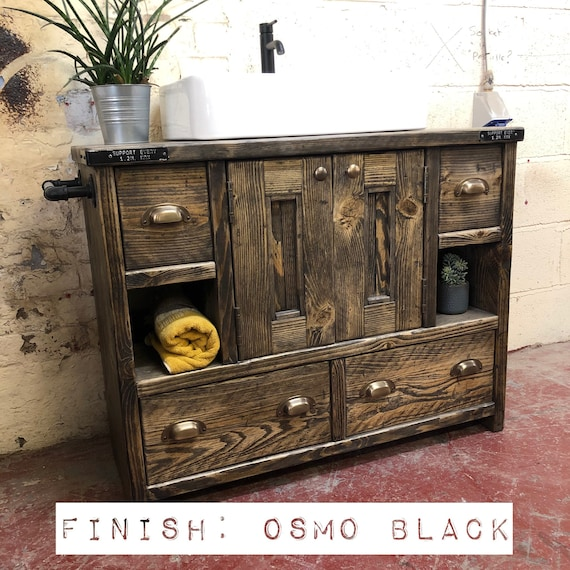 Davenport - Reclaimed Bathroom Vanity Cabinet | Wooden Bathroom vanity | industrial reclaimed Bathroom vanity