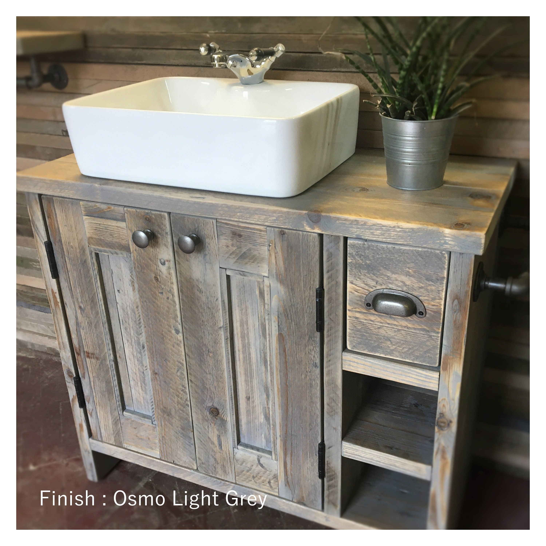 Edinburgh Reclaimed Wood Bathroom Vanity Wood Farmhouse