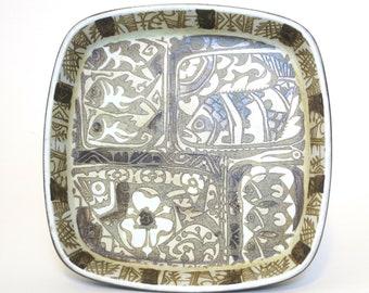 Dish number 7192884 Gift Baca faience dish Large vintage rectangular dish Nils Thorsson dish Pottery fish dish Royal Copenhagen dish