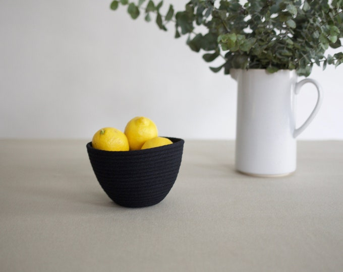 Black Mini Rope Basket