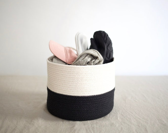 Black and White Two Toned Basket