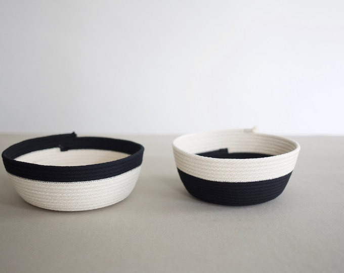 Two Tone Black and White Bowl
