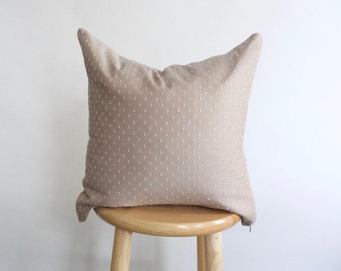 Taupe Swiss Dot Pillow Case
