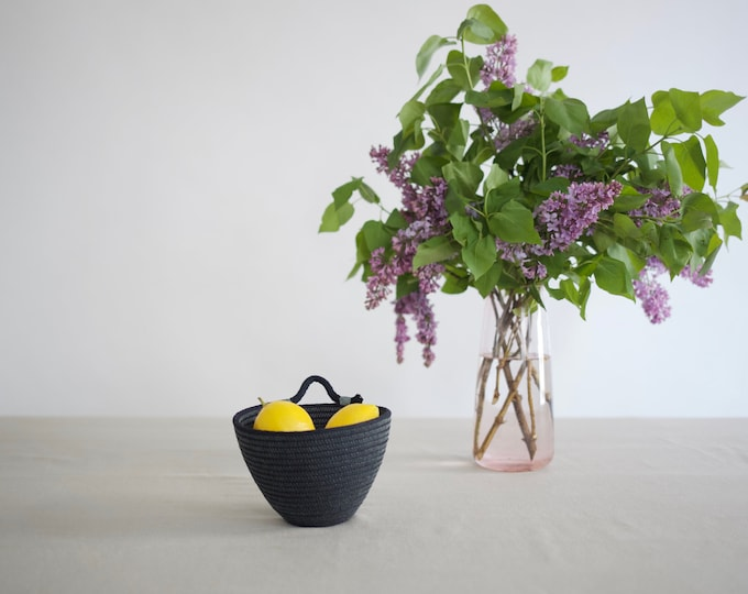 Black Mini Wall Rope Basket