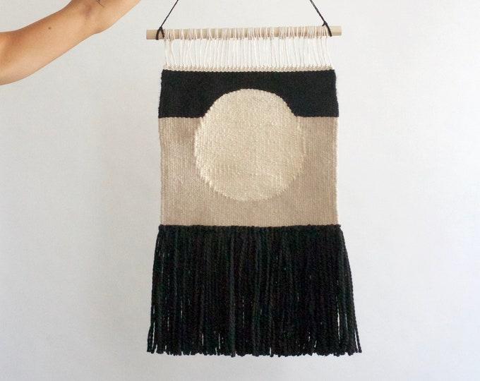 Modern Black Circle Wall Hanging
