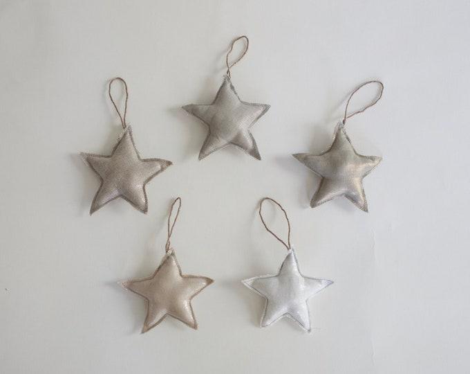 Linen Star Ornaments