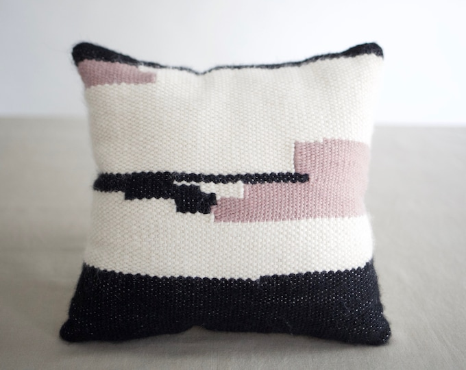 Small Handwoven Decorative Pillow