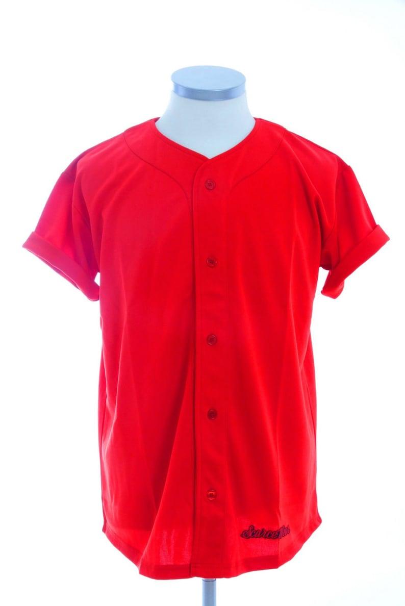the latest c44d3 e60ef Scarcewear Signature plain red baseball jersey shirt size S-4xl