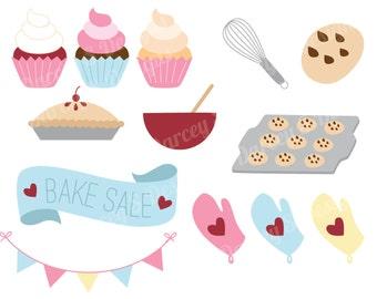 Bake Sale Clipart Set Instant Digital Download Set of 13