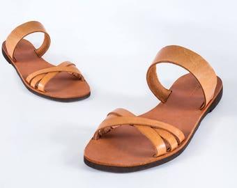 Véritable cuir grec sandales totalement à la main de haute qualité grecque classique femmes rétro pour cet été chaussures ballerines livraison gratuits!