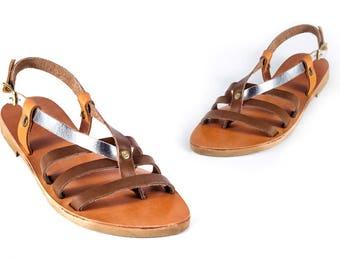 Véritable cuir grec sandales totalement à la main de haute qualité Womens grec spartiate été chaussures ballerines livraison gratuits!