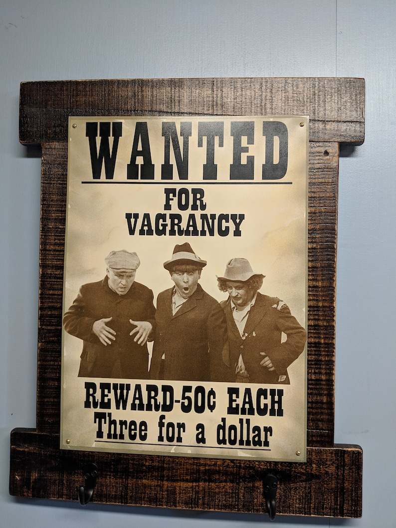 3 Stooges Auto Bike Garage Funny Metal Ad Sign Picture Shop Wall Decor Gift