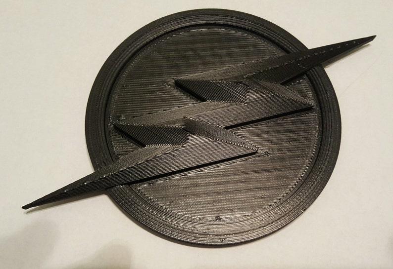 2-Piece Flash/Zoom Inspired Emblem & 3-Piece Ear Pieces - Raw PetG Print