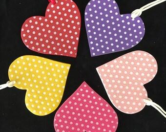 NEW! Double-Sided Leather Polka Dot Heart Bagcharm