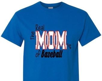 The Real Mom's of Baseball Shirt/Baseball Mom Shirt/Baseball Bling,Game Day Shirt