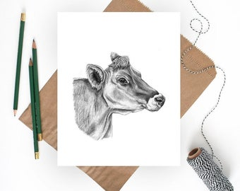 Cow Art Print, Cow Print, Cow Art, Cow Decor, Cow Wall Art, Farm Animal Art, Farm Art, Farm Print, Cow Wall Decor, Farmhouse Art, Cow Gifts