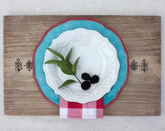 Wood Placemats | Wood Chargers  |  Entertaining | Tablescapes | Party | Serving Tray| Lunaria Design