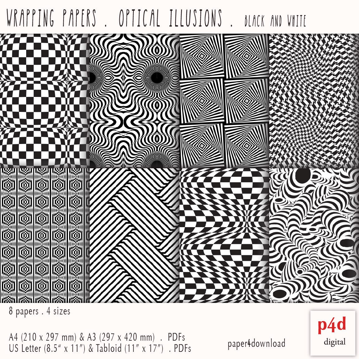 optical illusions paper pdf wrapping printable