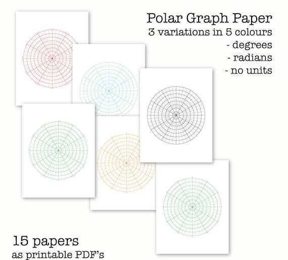 15 Polar Graph Papers Circular Graph Paper Digital Graph | Etsy