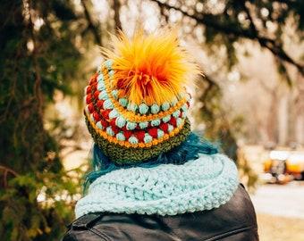 Slouchy Beanie/Crochet Beanie/Colorful Beanie/ Trendy Beanie/gifts for her/Fall Beanie/Winter Beanie/Handmade Beanie/Orange Beanie