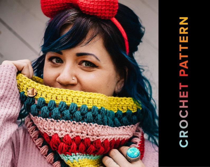 Crochet Cowl PATTERN Cowl pattern Collide-A-Cowl image 1