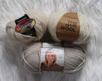Yarn Destash / Neutral yarn /  Cream Yarn / Yarn Sale / 40% off