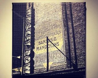 c1e716a4b Whiskey Row | Gruhn's Guitars | Historic Nashville | Honky Tonk | Broadway  | Metal | Canvas Print | Ready to Hang | Free Shipping