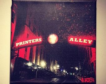 Printer's Alley | Historic Nashville | Metal | Canvas Print | Ready to Hang | Free Shipping