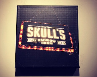 Skull's Rainbow Room | Printer's Alley | Historic Nashville | Metal | Canvas Print | Ready to Hang | Free Shipping