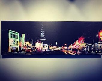 Nashville's Broadway | Historic Neon Lights | Street Photography | Nashville Artwork | Canvas Print | Wall Art | Free Shipping