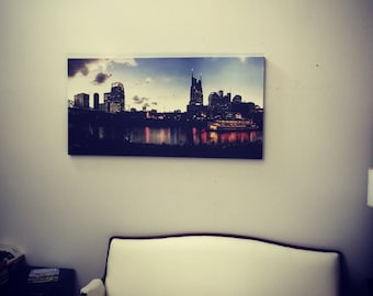 Nashville Skyline Eclipse 2017 | Canvas Print | Wall Art | Ready to Hang | Free Shipping