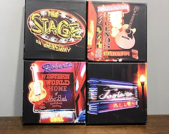 Nashville's Broadway Signs Collage | The Stage | Robert's | Tootsie's | The Stage | Free Shipping