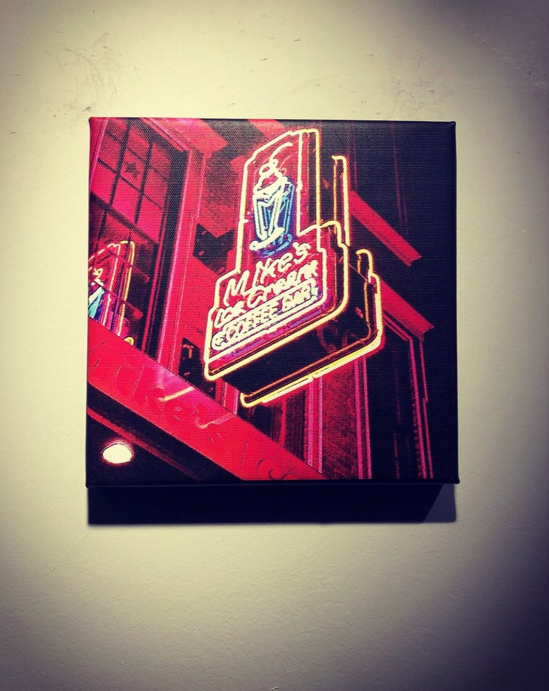Mike's Ice Cream Shop | Downtown Nashville Sign | Metal | Canvas Print |  Ready to Hang | Free Shipping