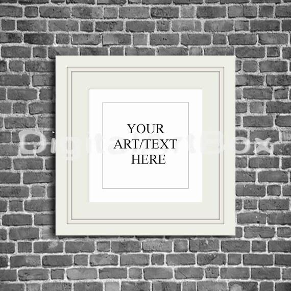 White Square Frame Poster Mockup Digital Frames INSTANT | Etsy