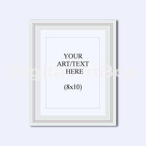 8x10 Vertical White FrameCadre Picture Frame 16x20 Portrait | Etsy