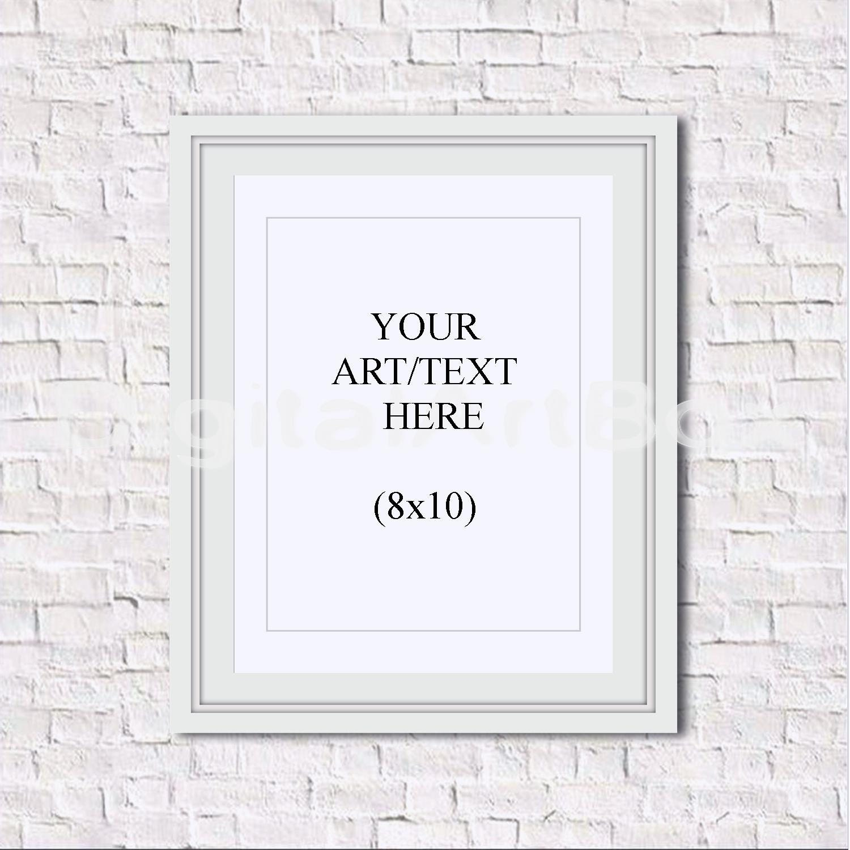 Portacarteles de bricolaje 8 x 10 16 x 20 24x30 marco blanco ...