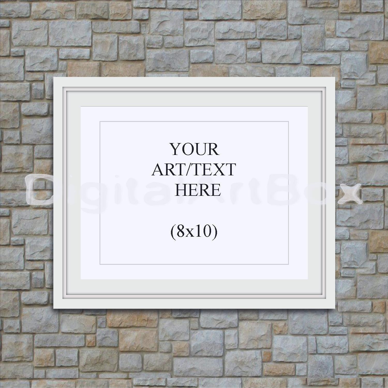 Marco blanco de 8 x 10, 16 x 20 24 x 30 cuadro blanco Horizontal ...