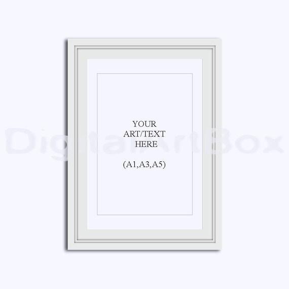 A3 Vertical White FrameCadre Picture Frame A1 Portrait A5 | Etsy