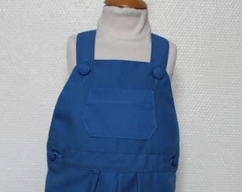 Blue canvas T 18 month overalls
