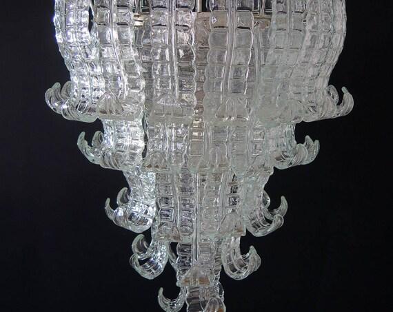 Italian Murano Six-Tier Felci Glass chandelier - 52 glasses
