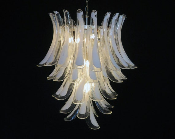 Italian vintage Murano chandelier in the manner of Mazzega - 52 big glass petals