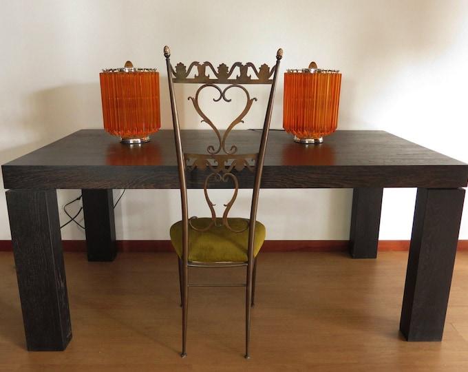 Amber Quadriedri Table Lamp - Venini Style