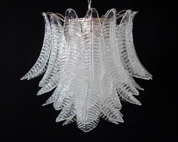 Huge Italian Murano Six-Tier Felci Glass chandelier