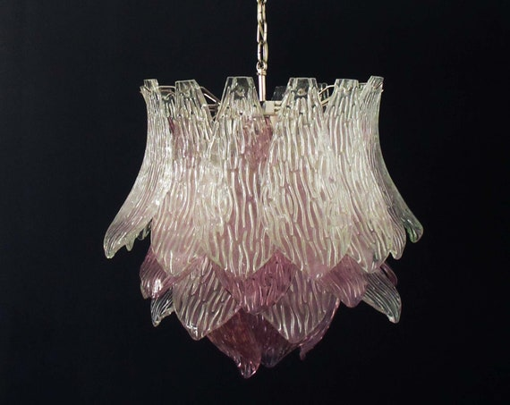 Italian vintage Murano Glass chandelier - 38 glasses